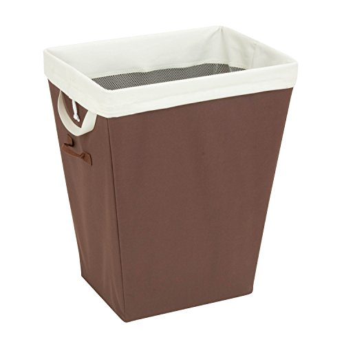 Rectangle Hamper Honey - Honey-Can-Do HMP-02343 Laundry Hamper with Removable Liner, 22.5-Inch, Brown