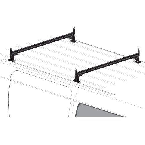2 Bar Rack System for The Transit Connect 2010-13, NV200 or Chevy City Express Black