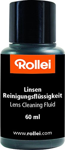 Rollei Lens Cleaning Fluid - Special cleansing agent for cleaning lenses without leaving smears, alcohol-free, transparent
