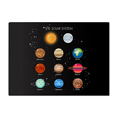 Glass Cutting Board Large Solar System Sun Moon and Planets by Royal Lion