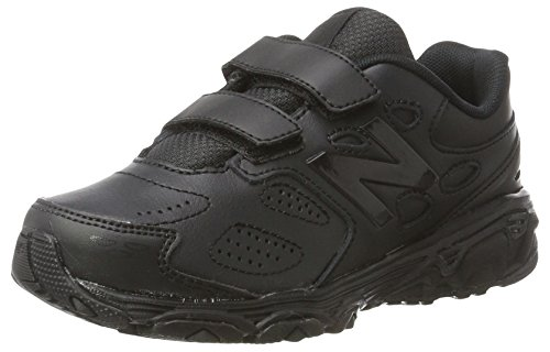 New Balance Boys' 680 V3 School Uniform Shoe, Black, 1.5 M US Little Kid