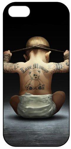 Love Mami Baby tatuaje 1008, iPhone 5 Carcasa rígida de plástico ...