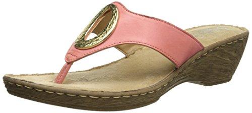 Bella Vita, fabricado en Italia de las mujeres sandalias de cuña de Bolonia Coral