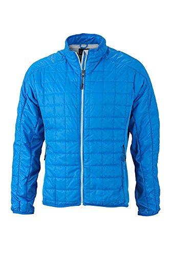 Jacket Hybrid Leggera Giacca Imbottitura Materiali Mix In Sportivi Men's silver Di Con Cobalt qzpUzvS