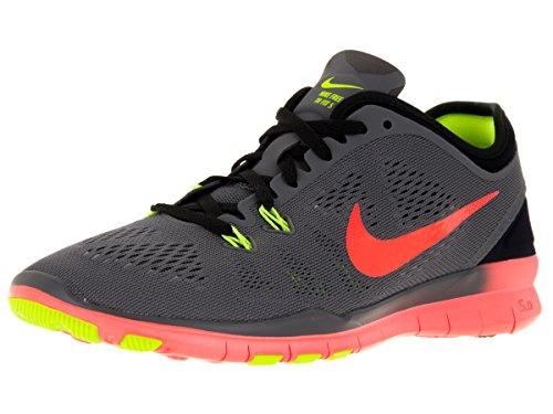 Nike Femmes Libres 5.0 Tr Ajustement 5 Prt Chaussures De Formation Femmes Nous Gris Foncé / Hyper Orange / Noir / Vlt