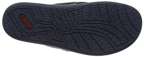 Rieker Mens Pantoufle Noir, 600373-1 Bleu / Noir