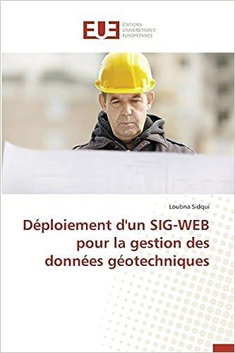 Book Déploiement d'un SIG-WEB pour la gestion des données géotechniques (Omn.Univ.Europ.)