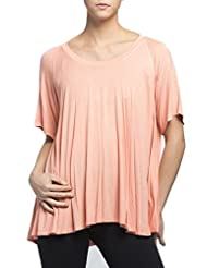 Nally & Millie Womens Raglan Sleeve Flared Top