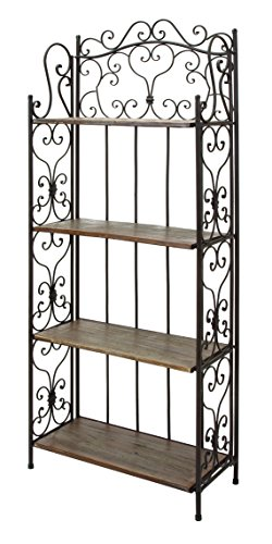 Deco 79 69872 Metal Wood Baker Rack, 27 by 68-Inch by Deco 79