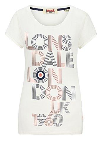 Lonsdale Ladies–Camiseta Ilchester–White Multicolor