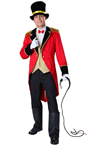 Ringmaster Mens Costume (Adult Circus Showman Costume Men's Ringmaster Costume Small)