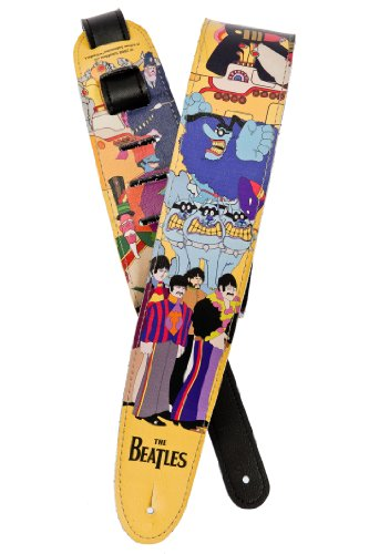 Planet Waves Beatles Vinyl Guitar Strap, Yellow - Vinyl Strap Guitar