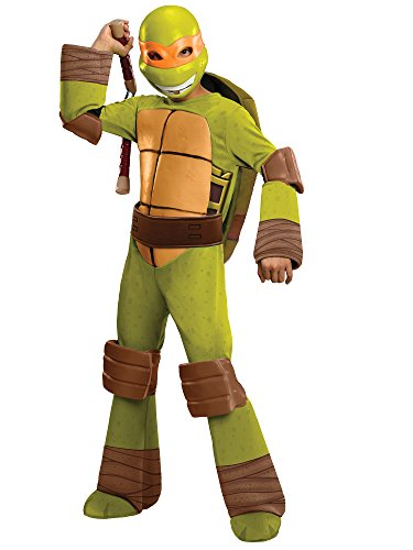 Teenage Mutant Ninja Turtles Deluxe Michelangelo Costume, Small]()