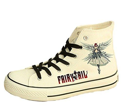 Bromeo Fairy Tail Unisex Segeltuch Hallo-Spitze Sneaker Trainer Schuhe Afc0h0laa