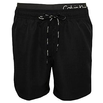 Calvin Klein Double Waistband Men's Swim Shorts, Black