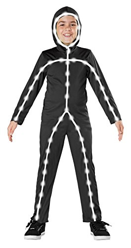 Seasons Light Up Stick Man Costume, Medium (8-10) (Funny Kids Halloween Costumes)