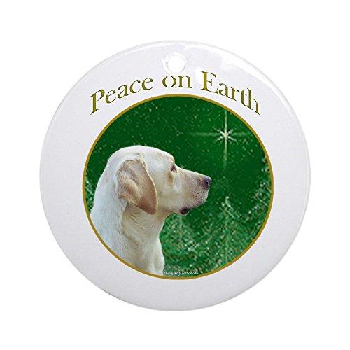 Lab Baby Christmas Ornament - CafePress - Yellow Lab Peace Ornament (Round) - Round Holiday Christmas Ornament