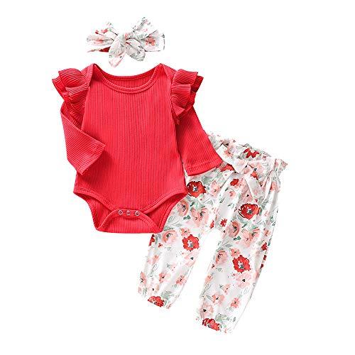 Wang-RX Conjunto de Ropa Infantil para bebés y niñas, Volantes ...