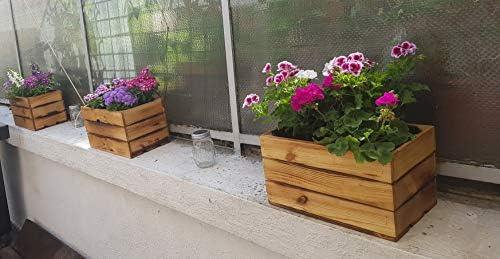 Caja de madera para guardar DVD/CD, caja para guardar libros, decoración de jardín, balcón, 38 x 22 x 21 cm: Amazon.es: Bricolaje y herramientas