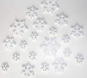 Unbekannt 20 Stk Holz Schneeflocken Weiß Fd Weihnachten Winter Deko Holzschneeflocke Schneeflocke Streuteile Weihnachtsdeko Tischdeko Karten Basteln