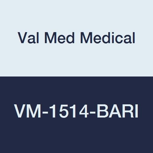 Val Med Medical VM-1514-BARI Bed Wedge, Navy Cotton Zipper Cover, Bariatric, High Density Foam with Finger Roll Top, 14'' Length, 36'' Width, 27'' Height