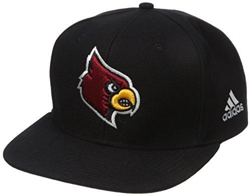 NCAA Louisville Cardinals Men's Flat Brim Snapback Cap, One Size, (Louisville Cap)
