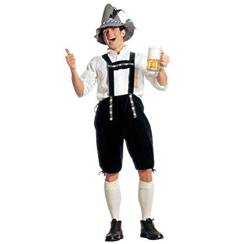 Oktoberfest Hose Trachten Lederhose L (52) Bayrische Seppelhose Bayer Trachtenhose Wiesn Trachtenlederhose Seppel Kniebundhose Fasching Dirndl Mottoparty Verkleidung Karneval Kostüme Männer