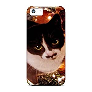 Fashion Protective A Cat Under The Tree Case Cover For Iphone 5c