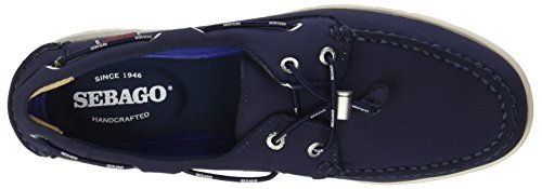 Da Uomo Blu Eyelets Scarpe Sebago blue Litesides Barca Navy Two Neoprene 908 wx7A6RqX4