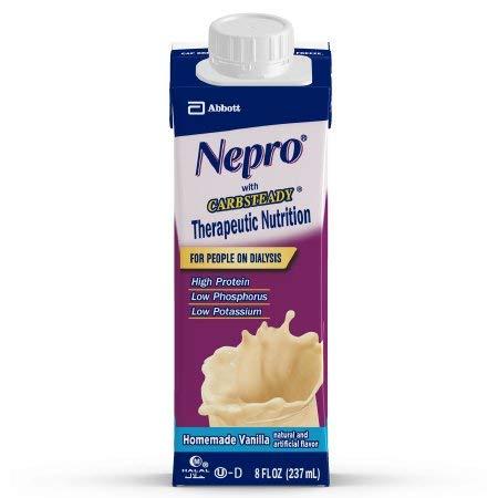 Nepro Homemade Vanilla, 8 Ounce Recloseable Carton, Abbott 64803 - Case of 24 by Nepro