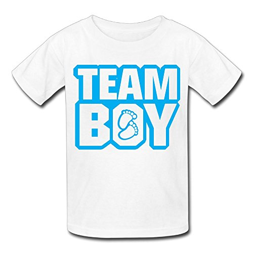 Hanxiaoxiao Kid's Team Boy Leisure Hiking White T-Shirts L Short Sleeve
