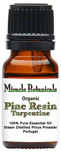 Price comparison product image Miracle Botanicals Organic Pine Resin - Turpentine Essential Oil - 100% Pure Pinus Pinaster - 10ml or 30ml Sizes- Therapeutic Grade - 10ml