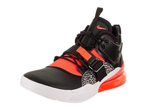 Nike Mens Air Force 270 Black/Hyper Crimson Leather