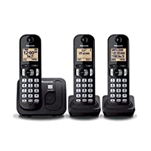 Panasonic KXTGC213B Expandable Digital Phone with 3 Cordless Handsets