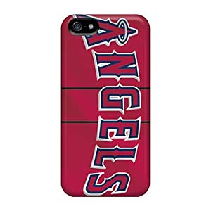 Shock-Absorbing Cell-phone Hard Covers For Iphone 5/5s (Osq833PsFr) Provide Private Custom Vivid Los Angeles Angels Skin