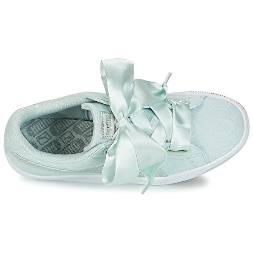 Bianco Azzurro 366495 Celeste Wn's Basket Sneakers Canvas Puma Heart Silver 03 w8OvBAnYq
