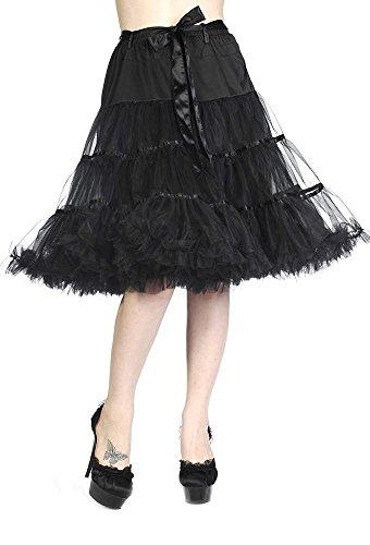 Banned Apparel Damen Petticoat Rock schwarz schwarz