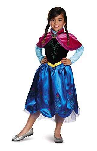 Anna Sparkle Deluxe Frozen Disney Costume, -