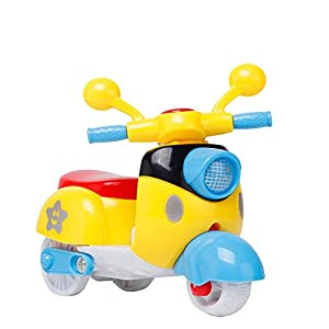 Festiday 1PC Mini Motorcycle Toy Pull Back Diecast Motorcycle Early Model Educational Toys Sale Kids Toy, Gift Education…