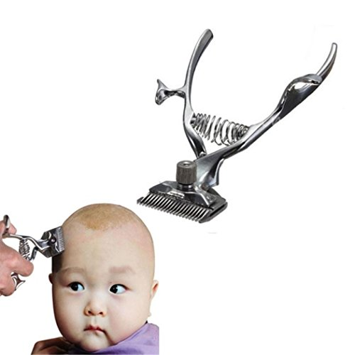 Vintage Barber Tools Hand Hair Clippers Portable Manual Family Baby Hairdressing Clippers