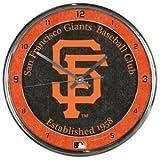 San Francisco Giants Round Chrome Wall Clock - Licensed MLB Baseball Merchandise