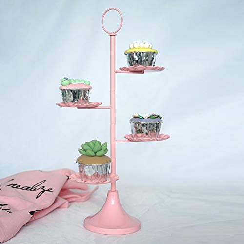 European metal cake stand wedding props pink dessert frame cupcake display dessert plate cake plate -