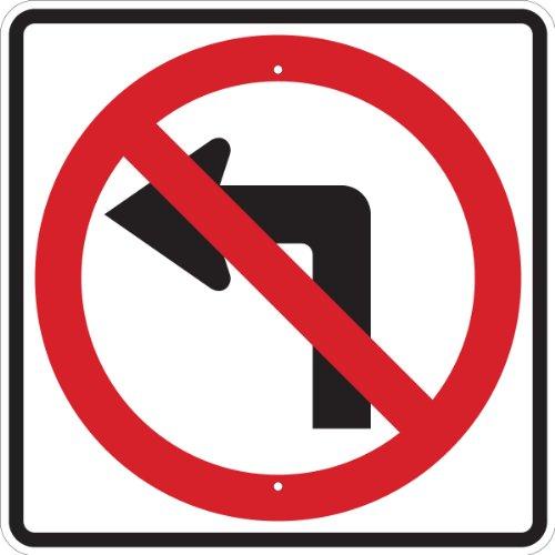 (Brady 103706 Reflective Aluminum Standard Traffic Sign, 24