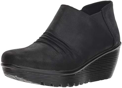 Curtail Twin Gore Ruched Bootie Ankle Boot, Skechers Women/'s Parallel