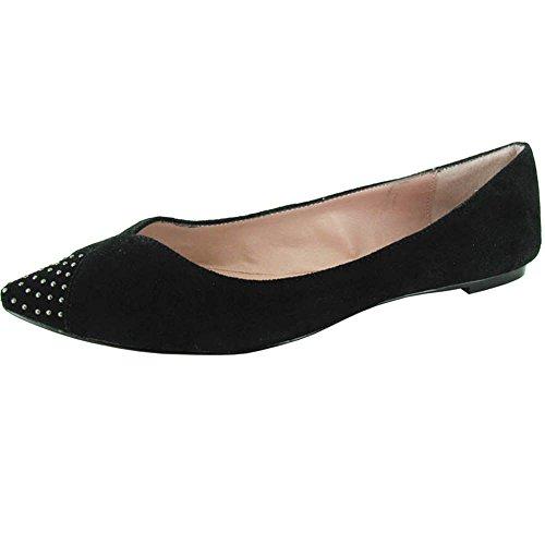 Betsey Johnson Femmes Sofii Chaussure Plate Daim Noir