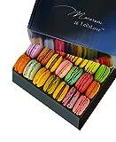 Leilalove Macarons - 18 Parisian Macaron Collections of dozen Flavors - Elegant Gentleman style gift box - Baked to Order
