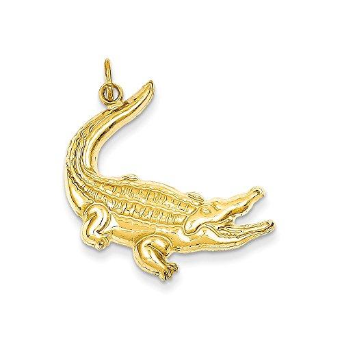 14k Yellow Gold Alligator Charm (23 x 31