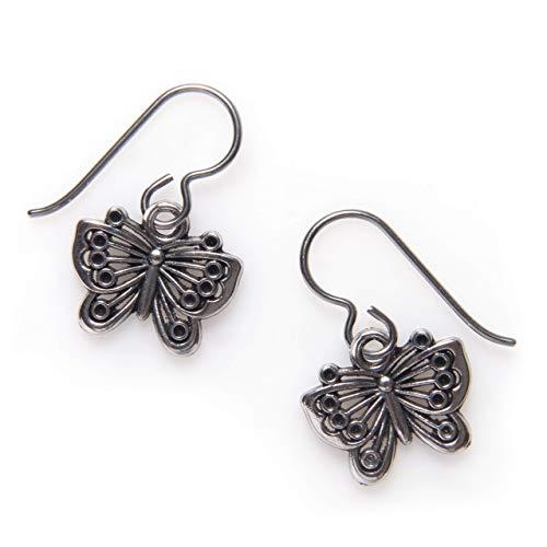 Filigree Butterfly Earrings for Women Niobium Wire