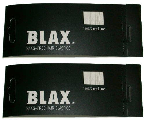 BLAX Clear Snag-Free Hair Elastics - 12ct - 2mm 2 Pack...
