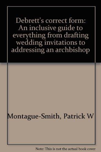 Download pdf debrett39s correct form an inclusive guide to for Wedding invitations wording debretts